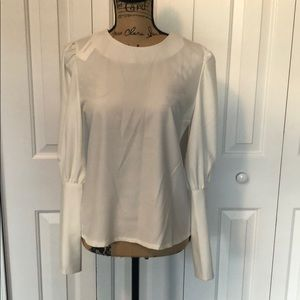 BNWT Cause White Blouse with Gold Buttons